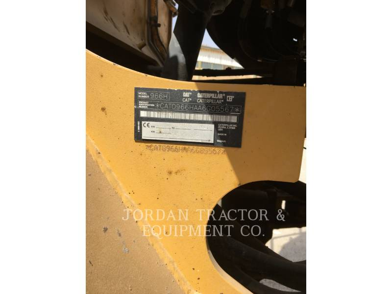 CATERPILLAR RADLADER/INDUSTRIE-RADLADER 966H equipment  photo 4