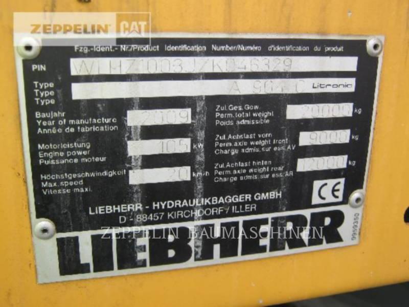 LIEBHERR EXCAVADORAS DE RUEDAS A904CLIT equipment  photo 10