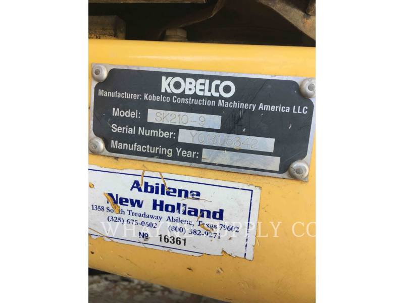 KOBELCO / KOBE STEEL LTD TRACK EXCAVATORS SK210-9 equipment  photo 13