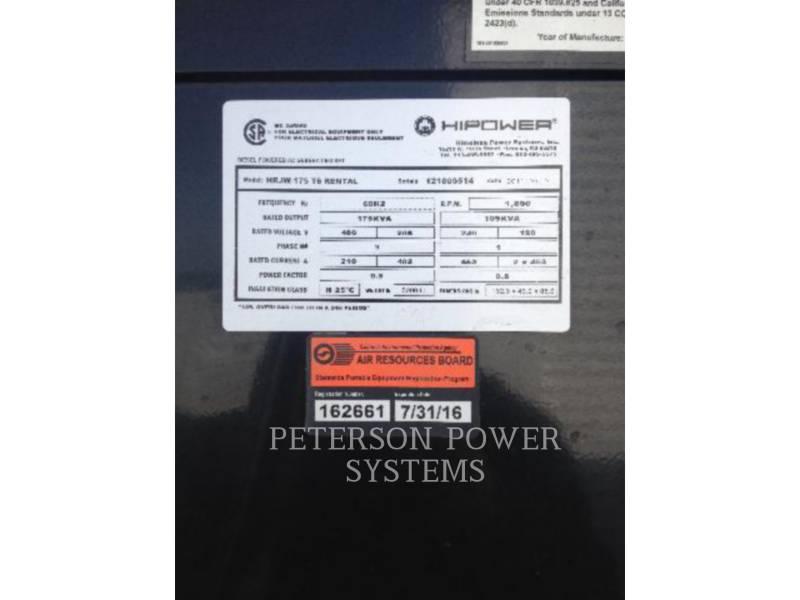 HIMOINSA ポータブル発電装置 (OBS) HRJW175T6 equipment  photo 2