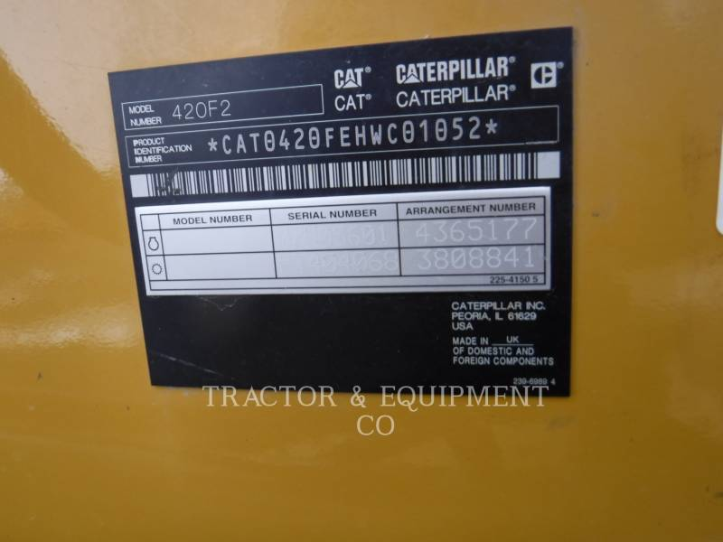 CATERPILLAR BAGGERLADER 420F2 4ECB equipment  photo 2