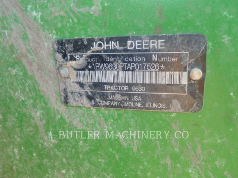 DEERE & CO. AG TRACTORS 9630 equipment  photo 10