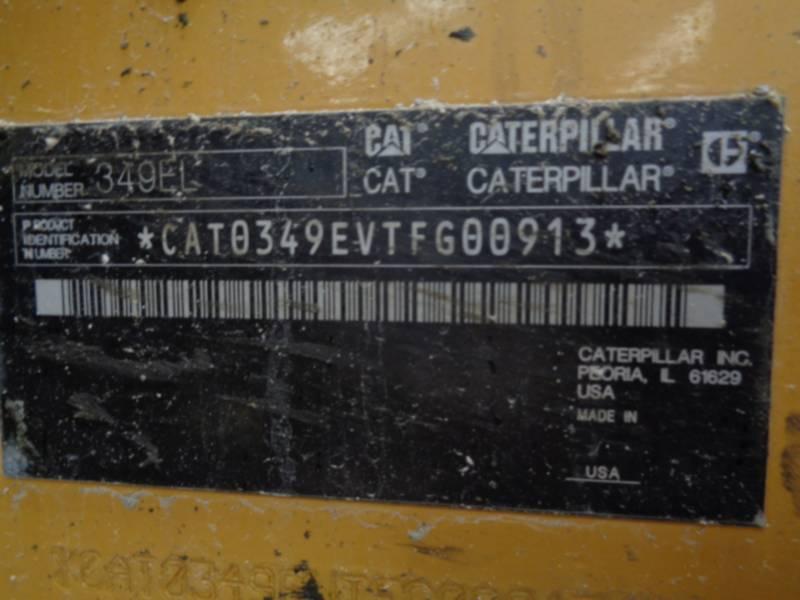 CATERPILLAR KOPARKI GĄSIENICOWE 349EL equipment  photo 9