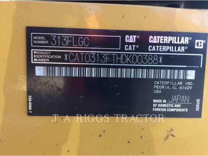 CATERPILLAR EXCAVADORAS DE CADENAS 313FLGC equipment  photo 9