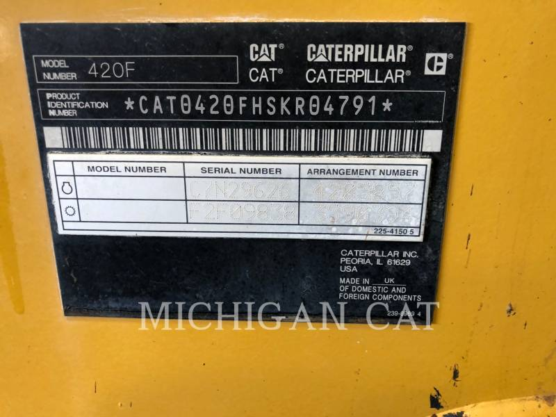 CATERPILLAR BACKHOE LOADERS 420F AR equipment  photo 15