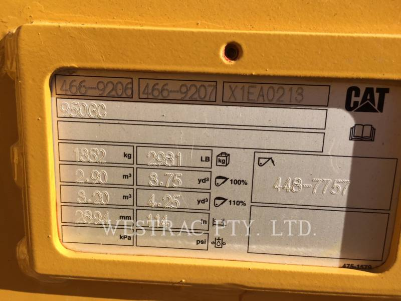 CATERPILLAR CHARGEURS SUR PNEUS/CHARGEURS INDUSTRIELS 950GC equipment  photo 17