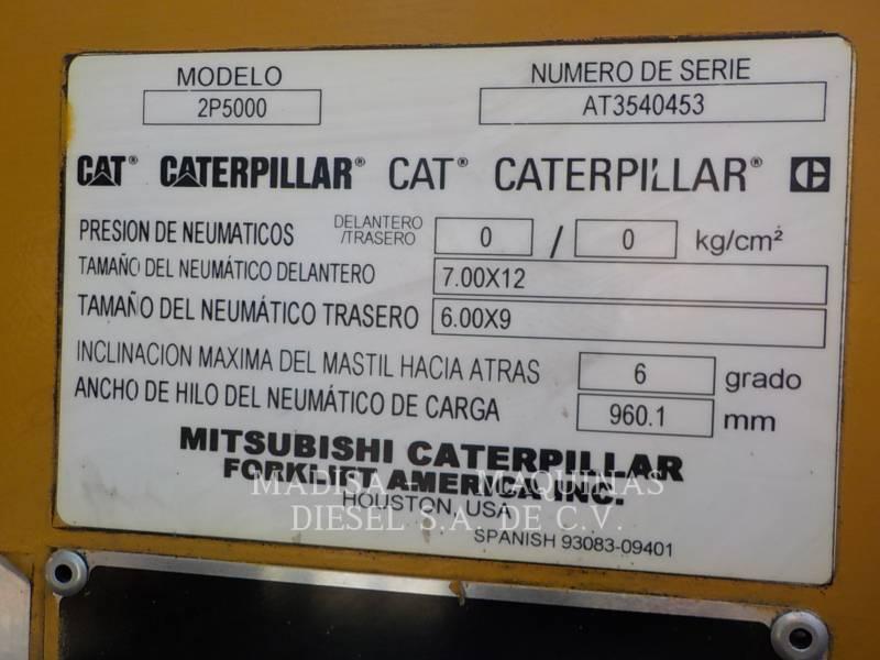 CATERPILLAR LIFT TRUCKS CHARIOTS À FOURCHE 2P5000GLP  equipment  photo 4