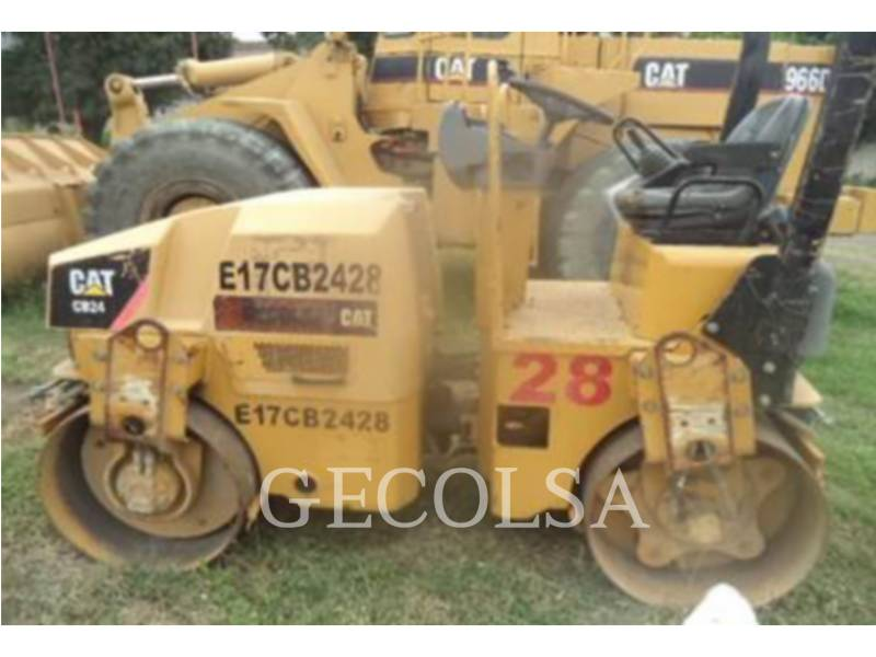 CATERPILLAR COMPACTEURS TANDEMS VIBRANTS CB24 equipment  photo 1