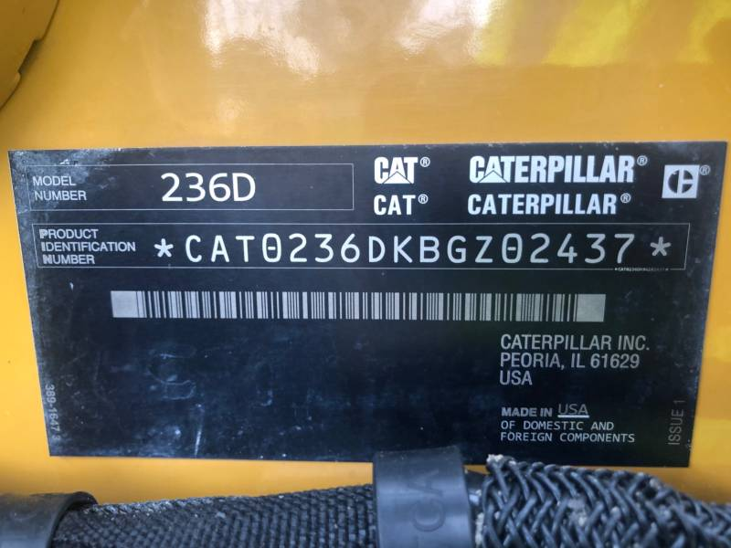 CATERPILLAR PALE COMPATTE SKID STEER 236 D equipment  photo 20