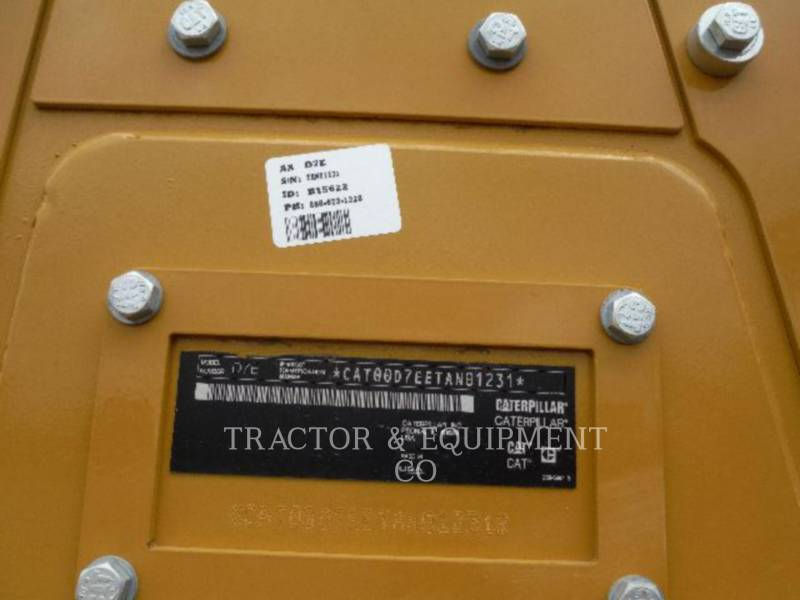 CATERPILLAR TRACK TYPE TRACTORS D7E equipment  photo 8