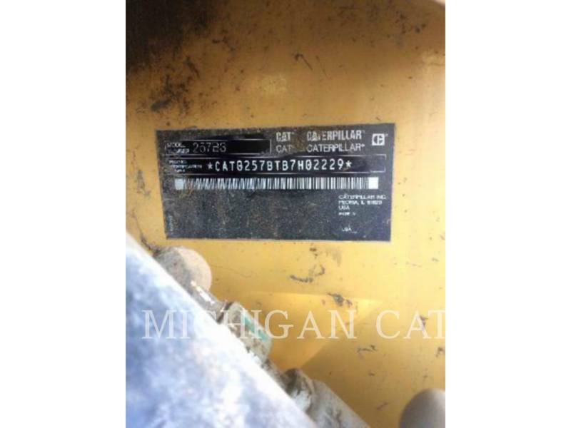 CATERPILLAR CARGADORES MULTITERRENO 257B3 equipment  photo 5