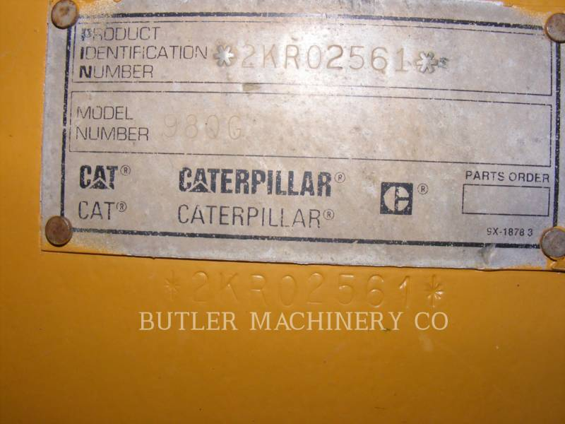 CATERPILLAR RADLADER/INDUSTRIE-RADLADER 980 G equipment  photo 6