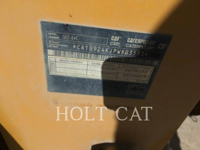CATERPILLAR WHEEL LOADERS/INTEGRATED TOOLCARRIERS 924K QC equipment  photo 5
