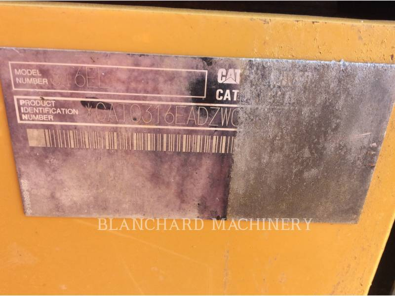 CATERPILLAR EXCAVADORAS DE CADENAS 316E equipment  photo 10