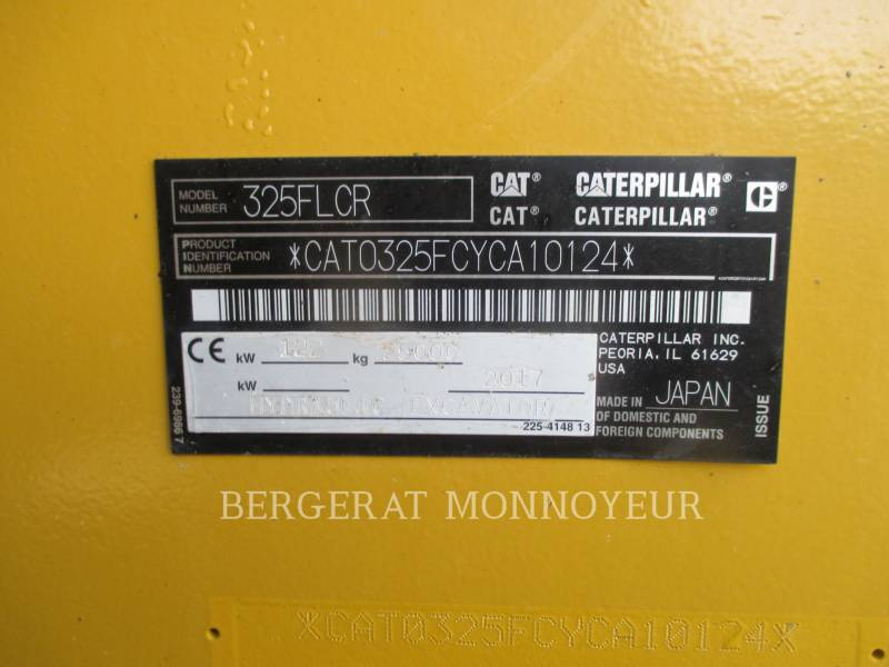 CATERPILLAR EXCAVADORAS DE CADENAS 325F CR equipment  photo 9