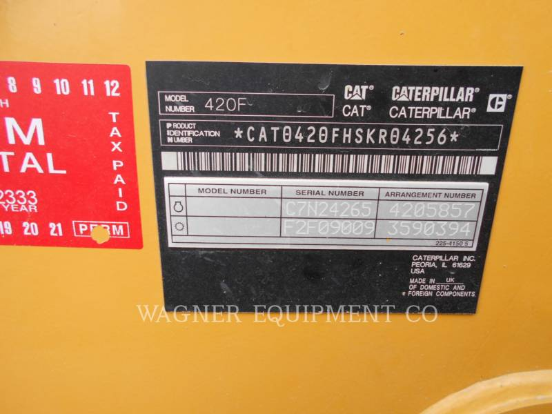 CATERPILLAR BACKHOE LOADERS 420F 4WD equipment  photo 5