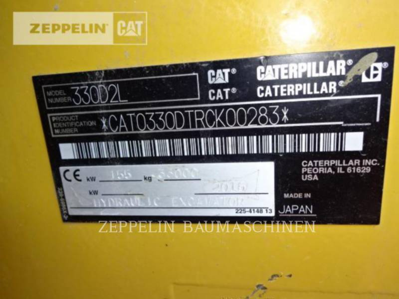 CATERPILLAR ESCAVADEIRAS 330D2L equipment  photo 9
