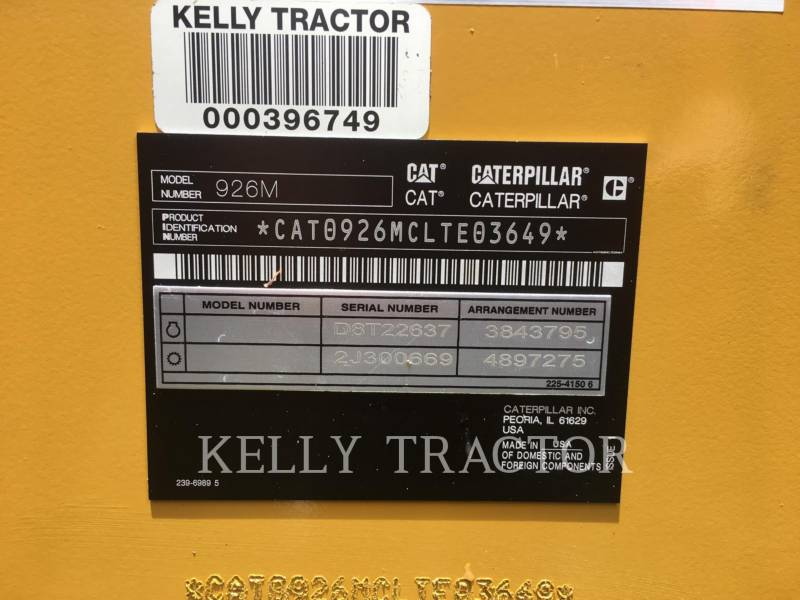 CATERPILLAR WHEEL LOADERS/INTEGRATED TOOLCARRIERS 926M equipment  photo 23