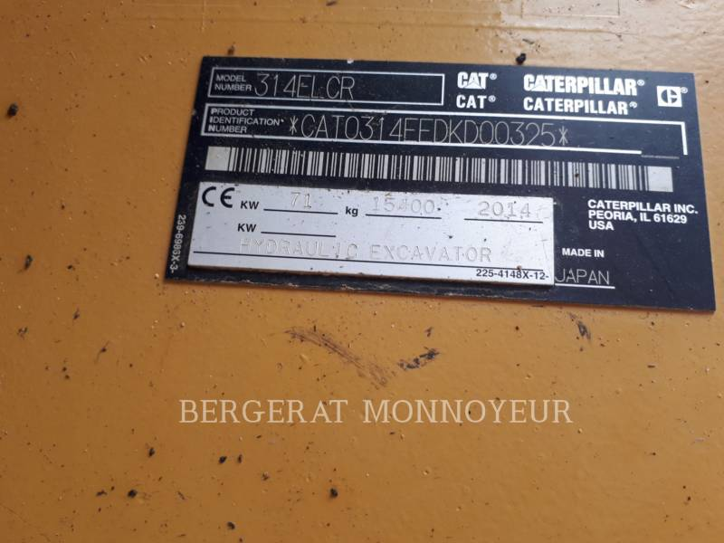 CATERPILLAR PELLES SUR CHAINES 314E equipment  photo 7