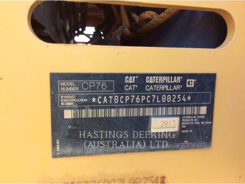 CATERPILLAR VIBRATORY SINGLE DRUM PAD CP76 equipment  photo 11