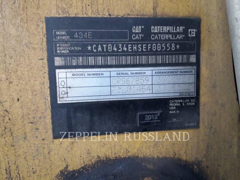 CATERPILLAR BAGGERLADER 434E equipment  photo 4
