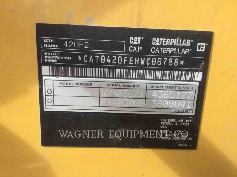 CATERPILLAR バックホーローダ 420F2 4WDE equipment  photo 6