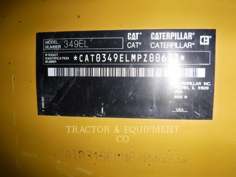 CATERPILLAR TRACK EXCAVATORS 349E L equipment  photo 7