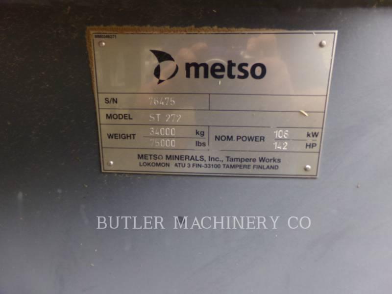 METSO SCREENS ST272 equipment  photo 6