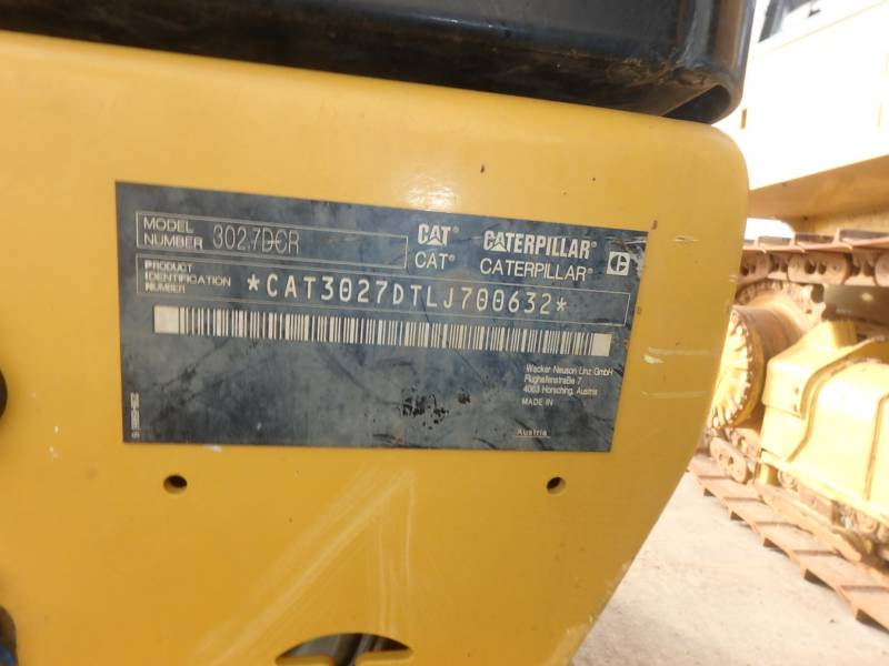 CATERPILLAR TRACK EXCAVATORS 302.7DCR equipment  photo 16