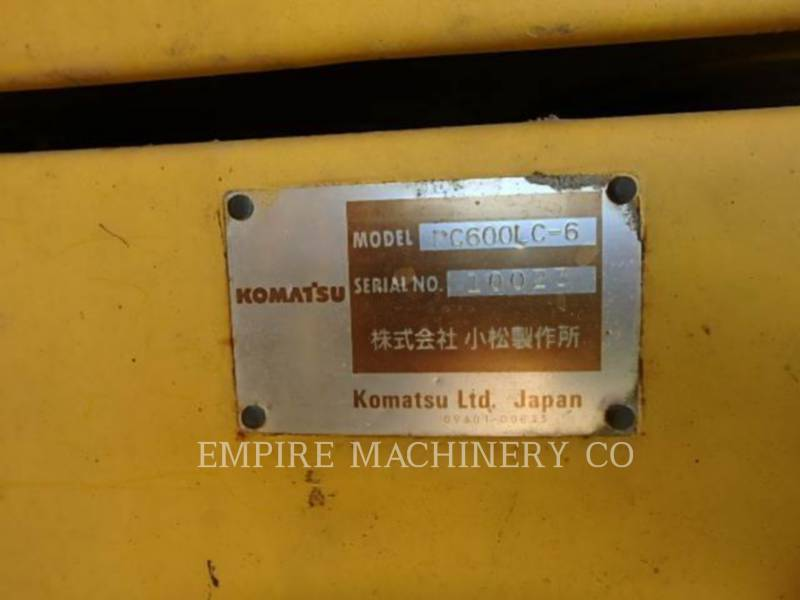 KOMATSU LTD. TRACK EXCAVATORS PC600LC equipment  photo 6