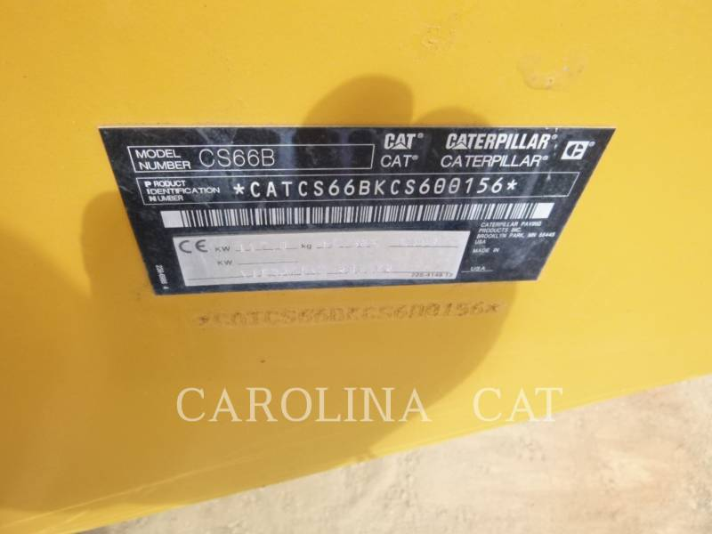 CATERPILLAR COMPATTATORE A SINGOLO TAMBURO VIBRANTE LISCIO CS66B equipment  photo 9