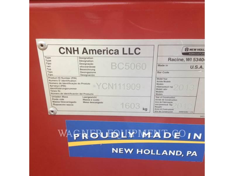 NEW HOLLAND LTD. 農業用集草機器 BC5060 equipment  photo 5