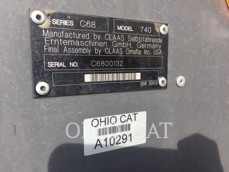 CLAAS OF AMERICA COMBINES LEX740 equipment  photo 24