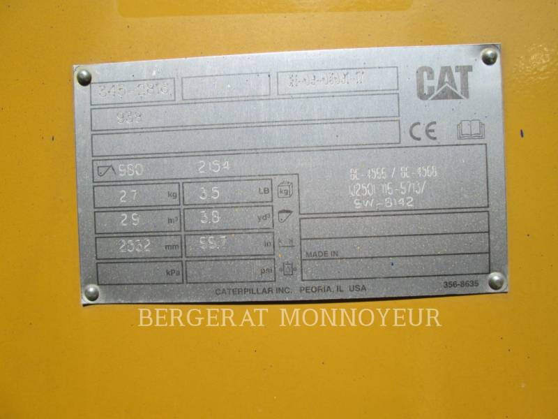 Caterpillar ÎNCĂRCĂTOARE PE ROŢI/PORTSCULE INTEGRATE 938M equipment  photo 11