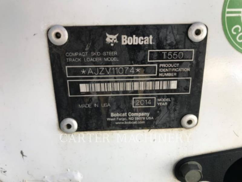 BOBCAT CHARGEURS COMPACTS RIGIDES BOB T550 equipment  photo 5