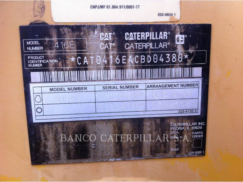 CATERPILLAR BAGGERLADER 416EST equipment  photo 16