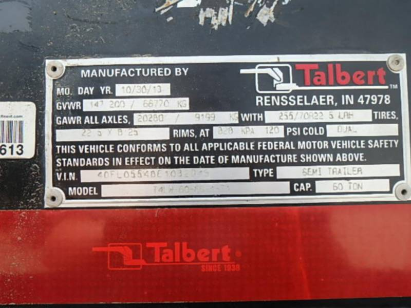 TALBERT TRAILERS T4LW-60-FG-1-T1 equipment  photo 10