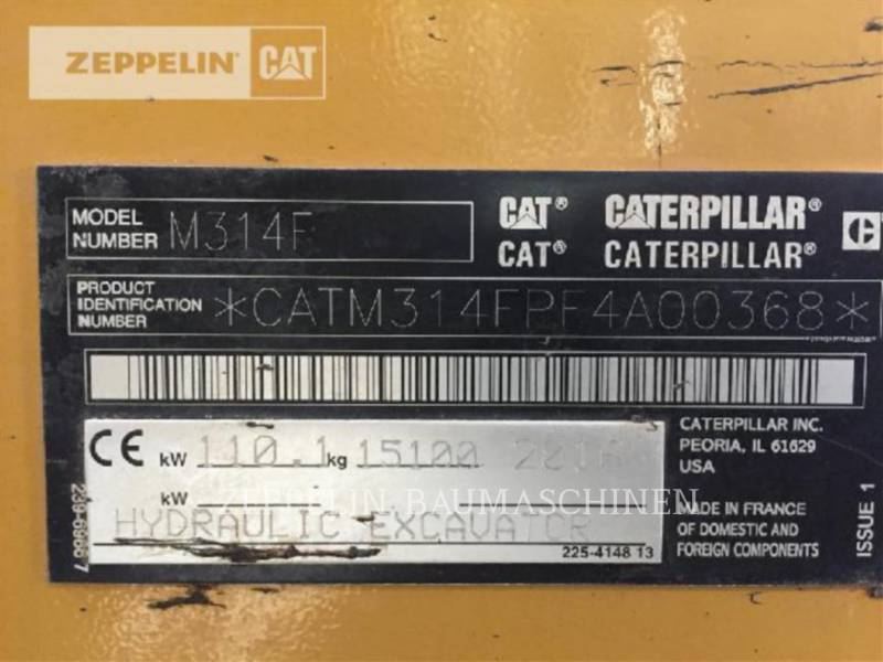CATERPILLAR PELLES SUR PNEUS M314F equipment  photo 5