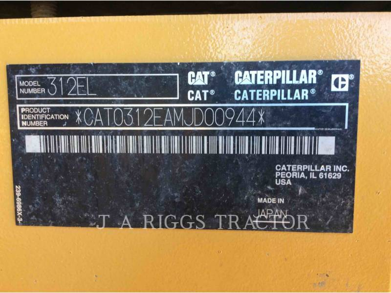 CATERPILLAR TRACK EXCAVATORS 312E 9 equipment  photo 5