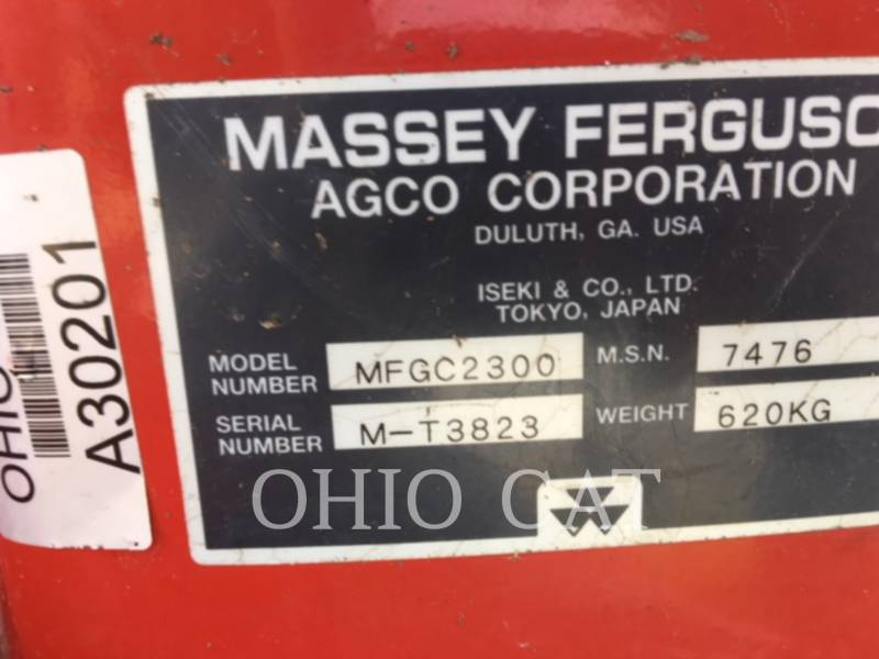 AGCO-MASSEY FERGUSON TRACTEURS AGRICOLES MFGC2300 equipment  photo 9