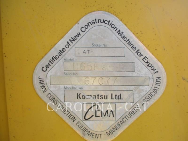 KOMATSU LTD. TRACTORES DE CADENAS D65EX-15 equipment  photo 11