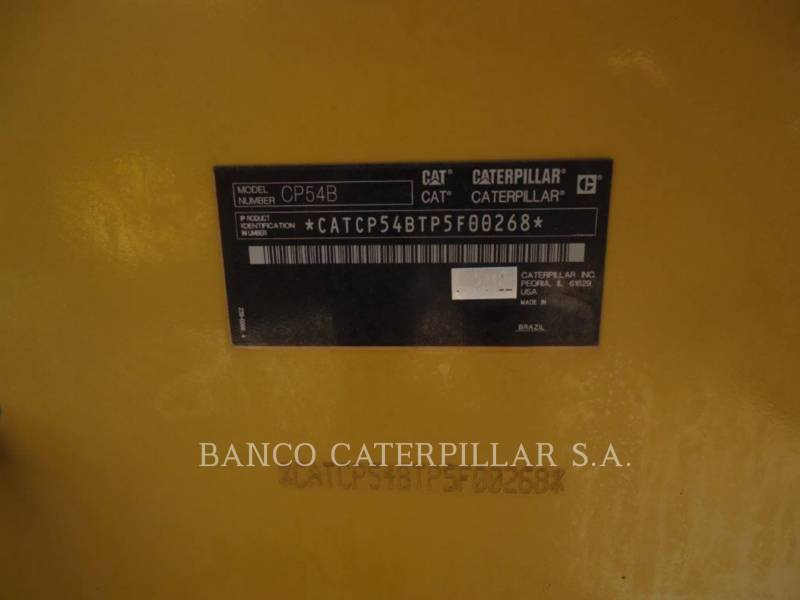 CATERPILLAR ACOLCHOADO DO TAMBOR ÚNICO VIBRATÓRIO CP54B equipment  photo 6