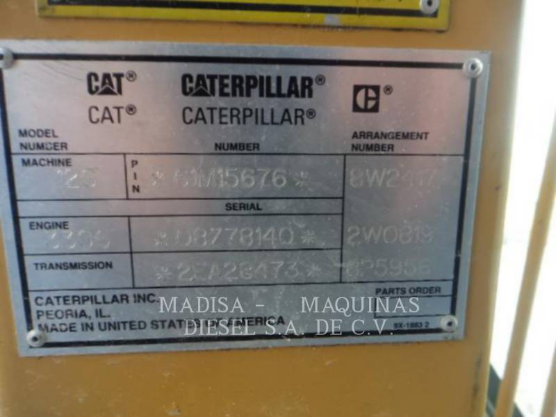 CATERPILLAR NIVELEUSES POUR MINES 12G equipment  photo 8