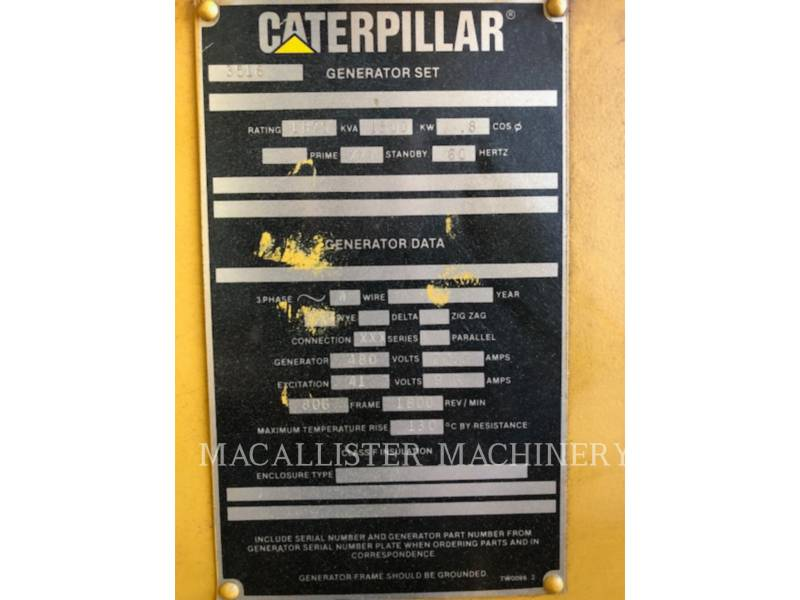 CATERPILLAR STATIONARY GENERATOR SETS 3516 equipment  photo 10