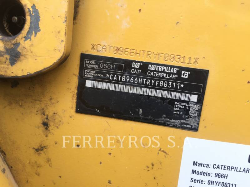 CATERPILLAR CARGADORES DE RUEDAS 966H equipment  photo 6