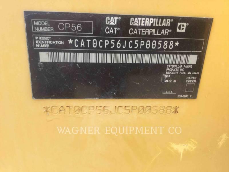 CATERPILLAR VIBRATORY SINGLE DRUM PAD CP56 equipment  photo 9