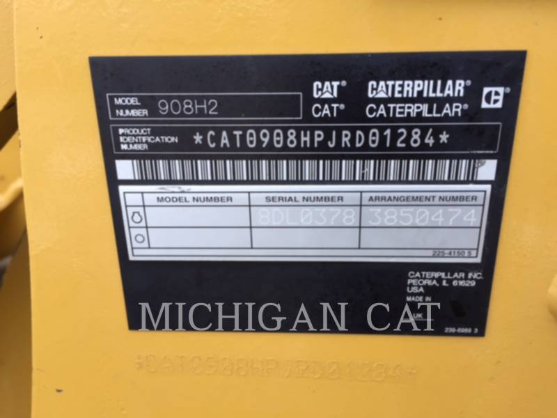 CATERPILLAR WHEEL LOADERS/INTEGRATED TOOLCARRIERS 908H2 AR equipment  photo 9