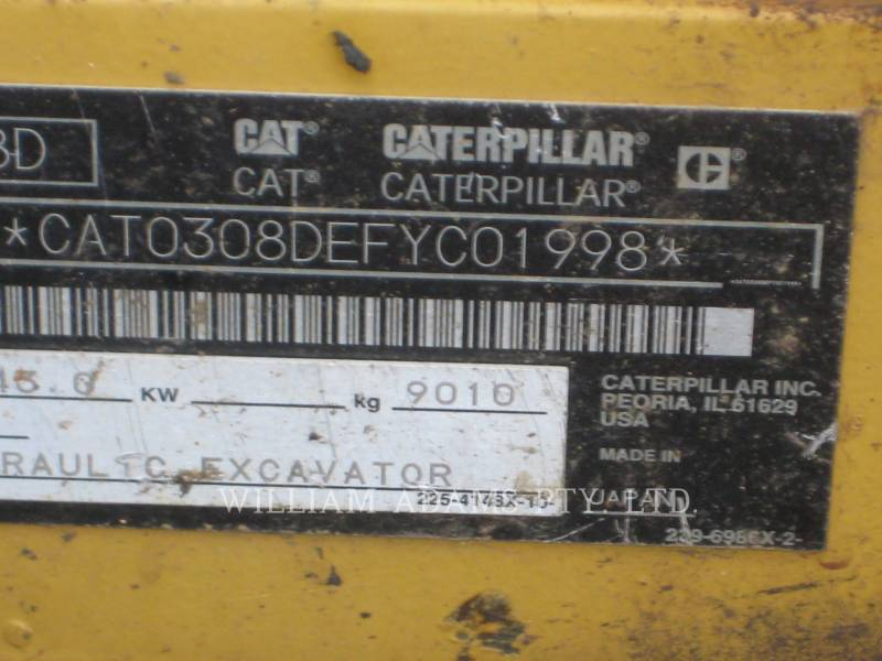 CATERPILLAR KETTEN-HYDRAULIKBAGGER 308 D CR equipment  photo 8