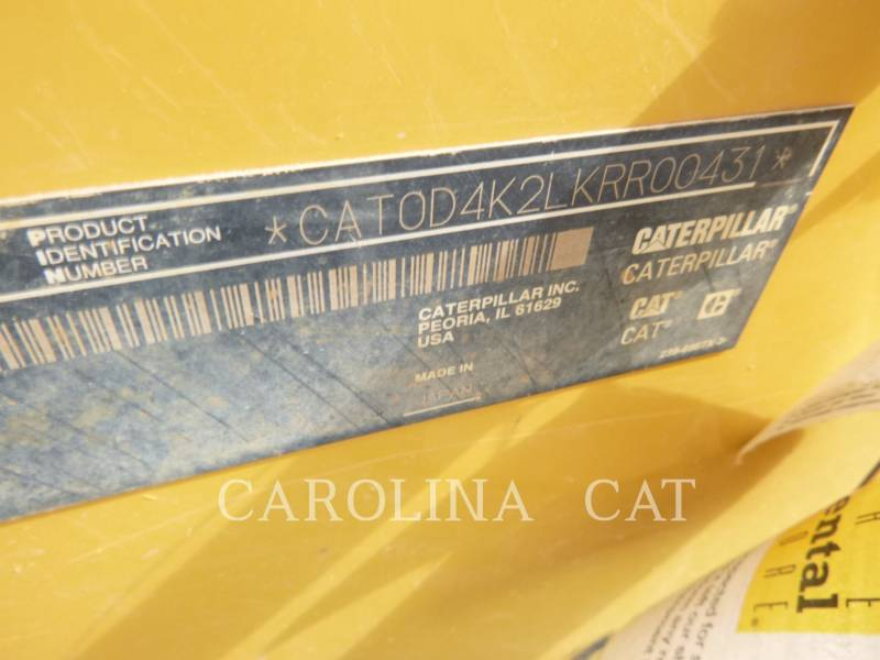 CATERPILLAR TRACTORES DE CADENAS D4K2 CBLGP equipment  photo 8
