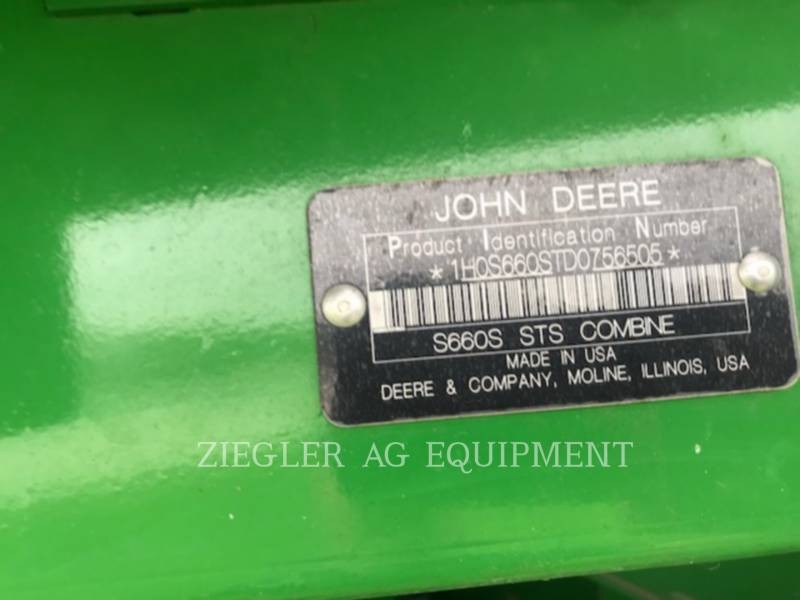 DEERE & CO. COMBINES S660 equipment  photo 2